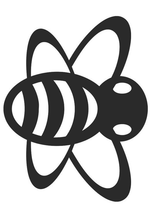 coloriage abeille image