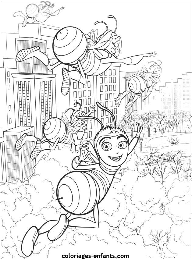 coloriages d'abeilles à imprimer coloriages enfants.com