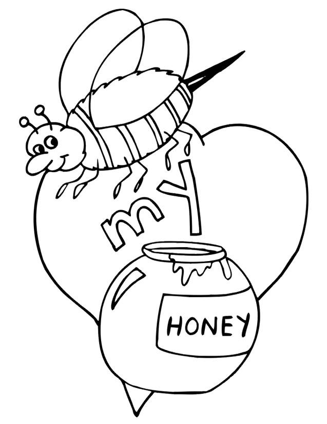 coloriage abeille à imprimer gratuitement