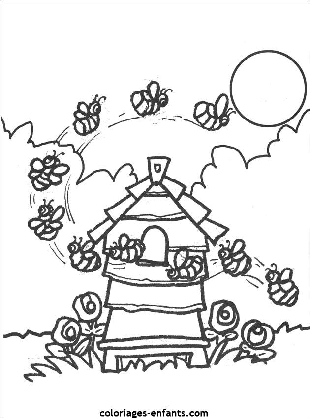 jeux et coloriages d'abeilles à imprimer