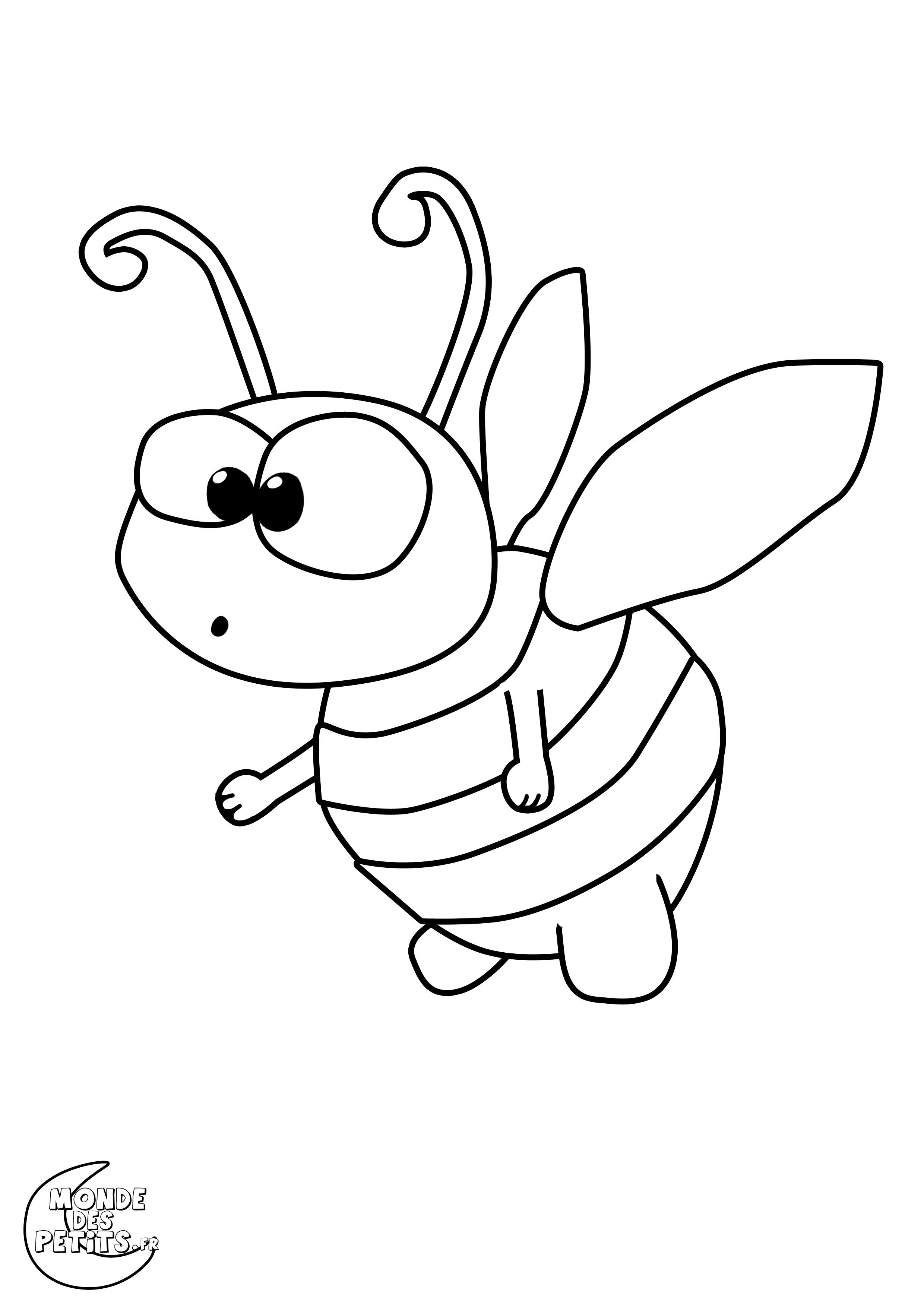 115 dessins de coloriage abeille imprimer sur page 8 - Coloriage d abeille ...