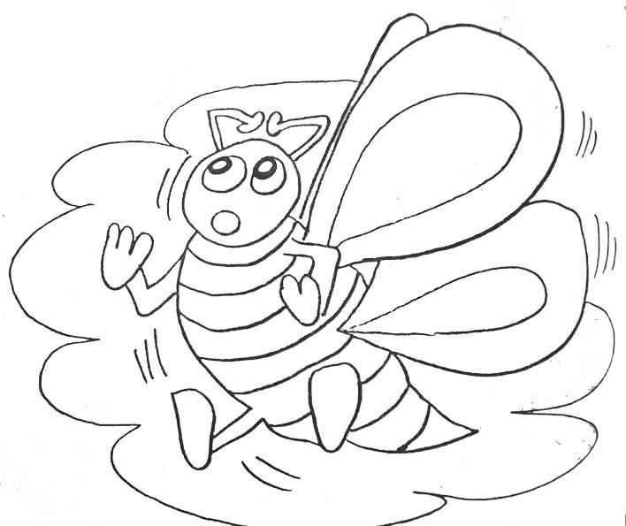 coloriage : abeille