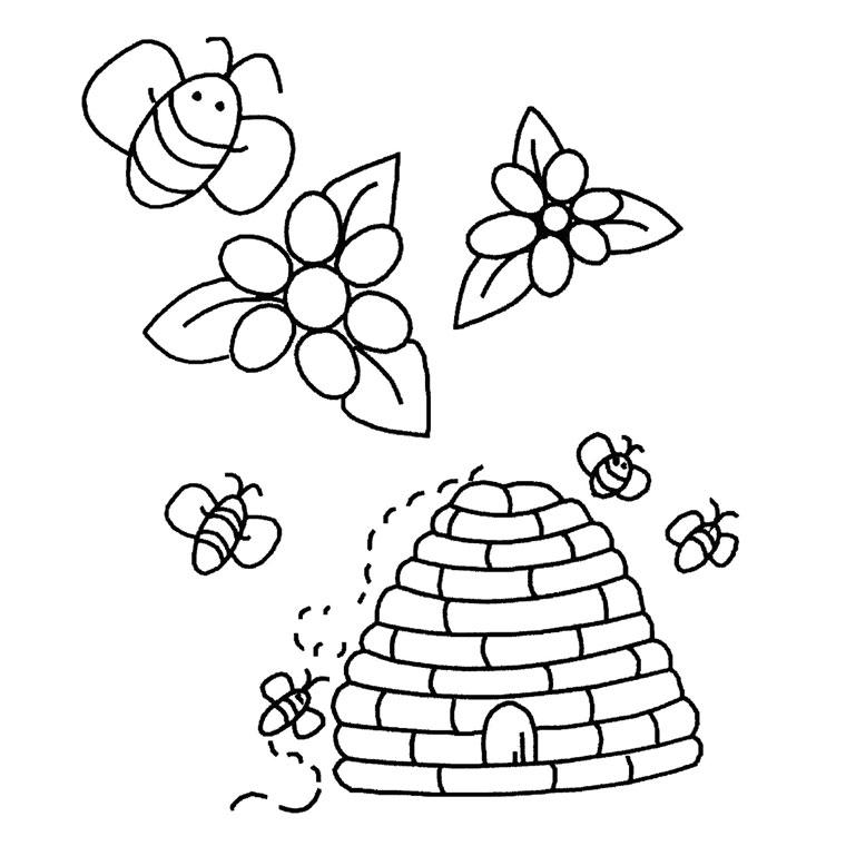 coloriage ruche d'abeille pour imprimer le coloriage ruche d'abeille