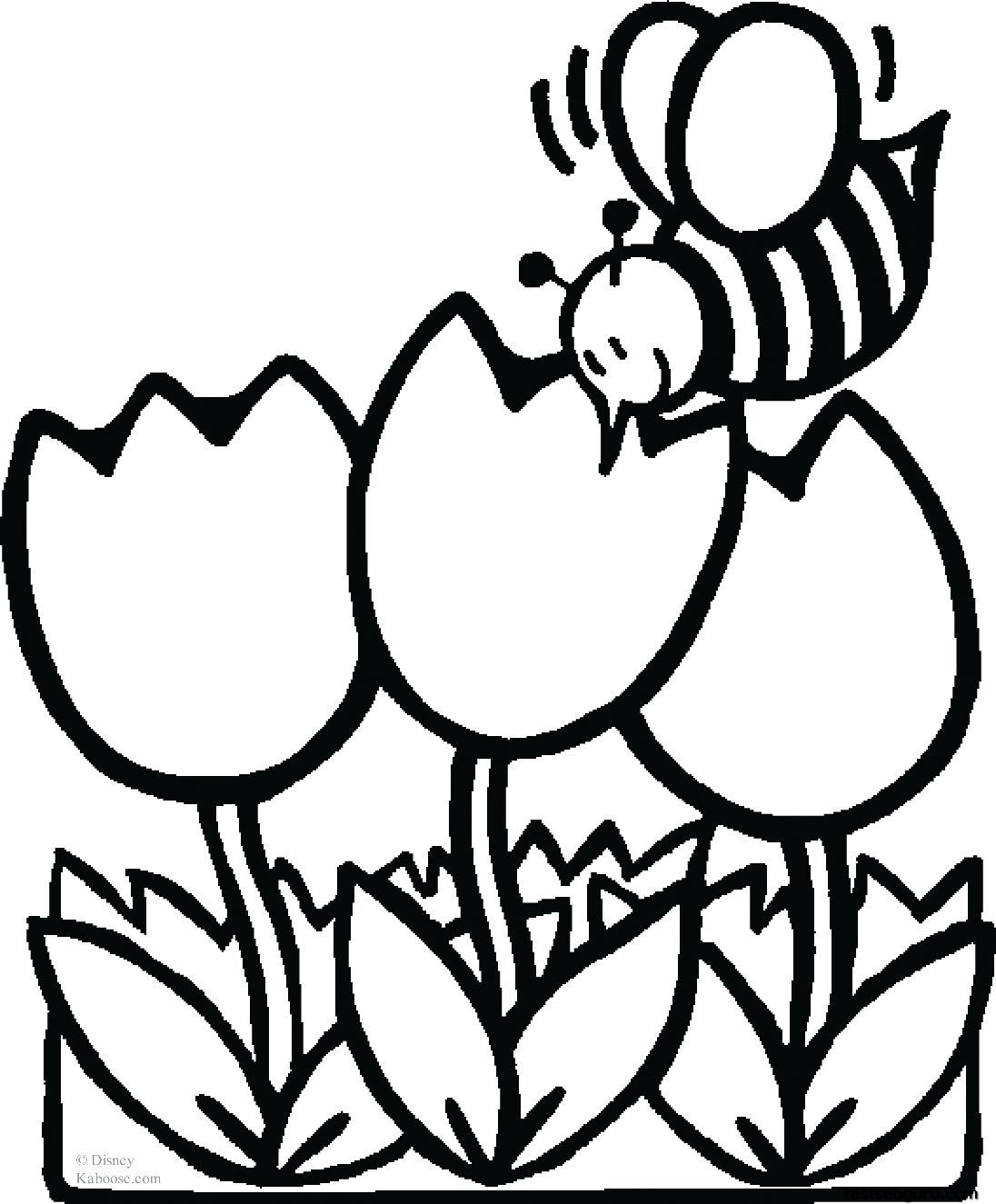 dessins à colorier abeille with tulips à imprimer dessins à colorier pour enfants