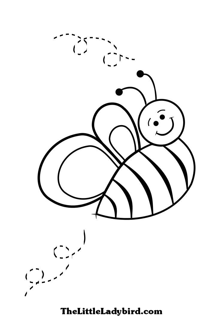 dessin à colorier de a smiling abeille dessins à colorier the little ladybird