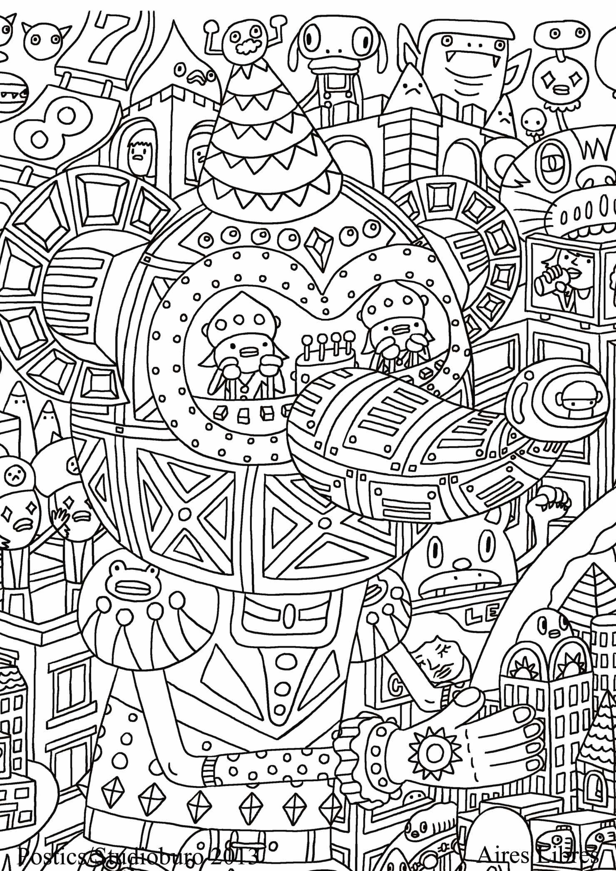 114 dessins de coloriage adulte imprimer sur laguerche - Coloriage image ...