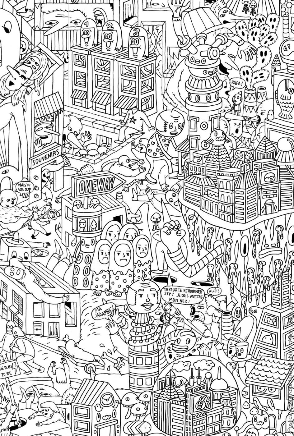 114 dessins de coloriage adulte imprimer sur laguerche. Black Bedroom Furniture Sets. Home Design Ideas