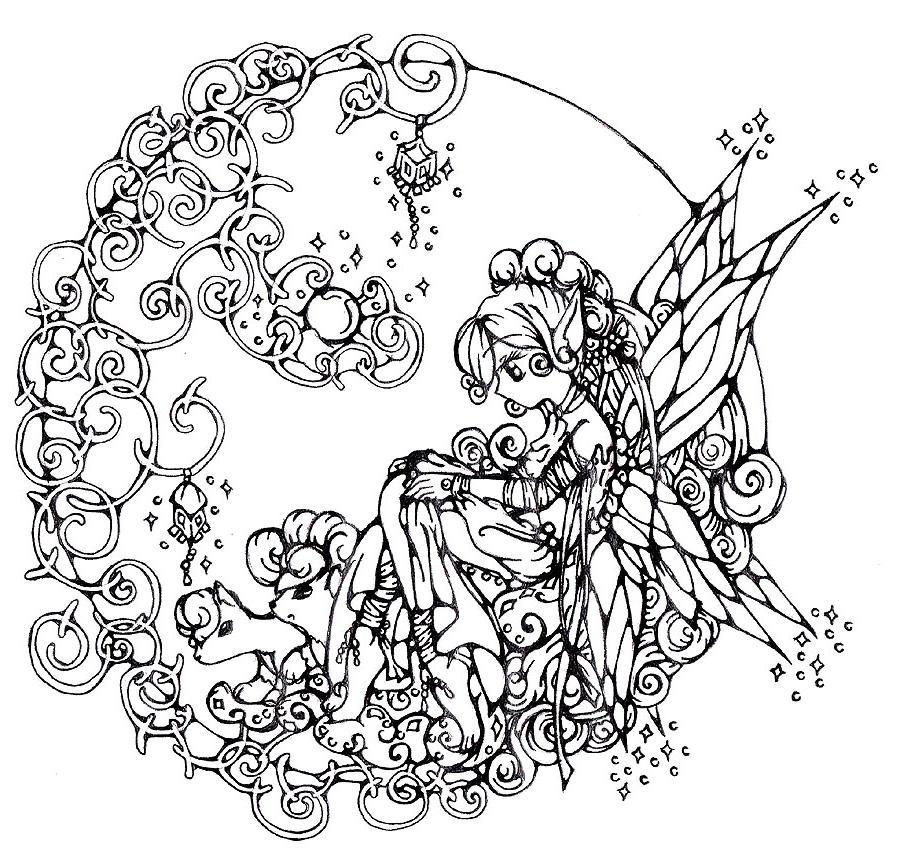 114 dessins de coloriage adulte imprimer sur laguerche - Coloriage a imprimer pour adulte ...