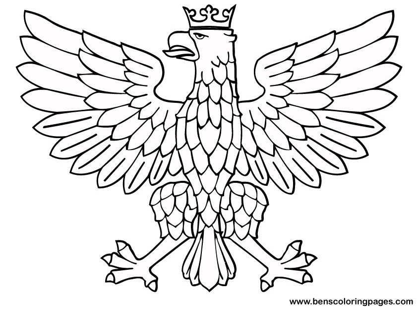 aigle dessins à colorier pour enfants