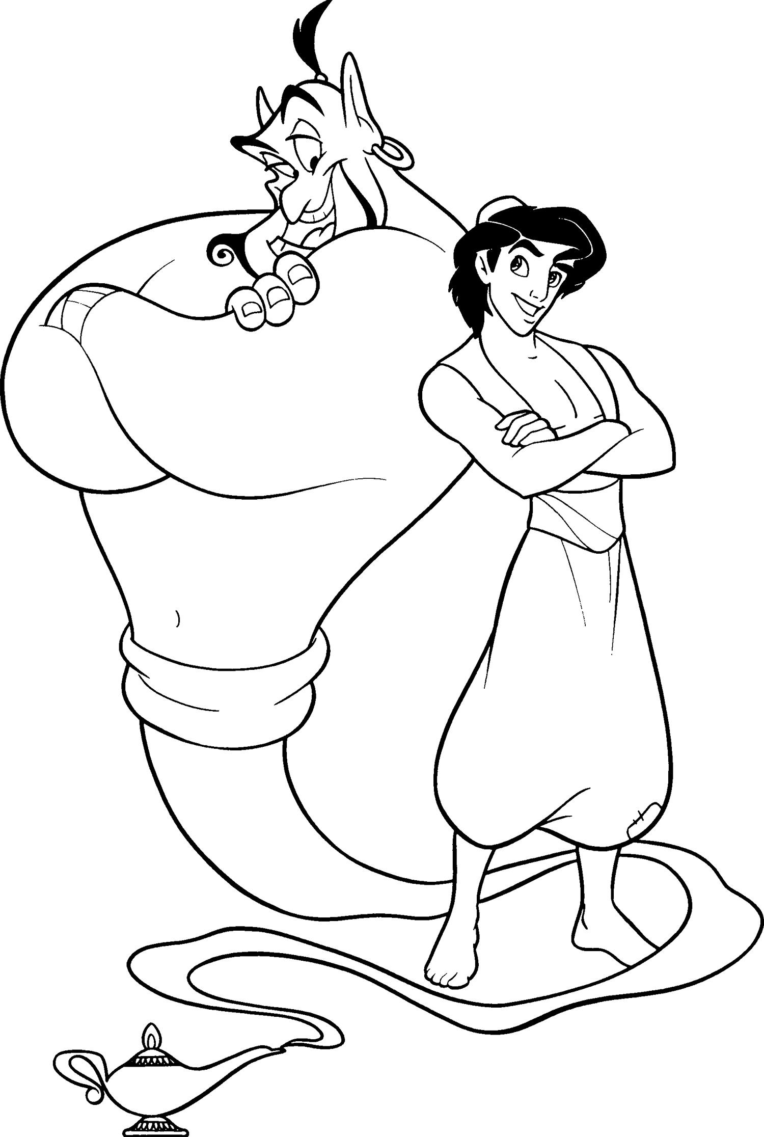 Kleurplaten Aladdin En Jasmine.Aladdin En Jasmine Kleurplaat Kleurplaat Aladdin Aladdin Kleurplaten