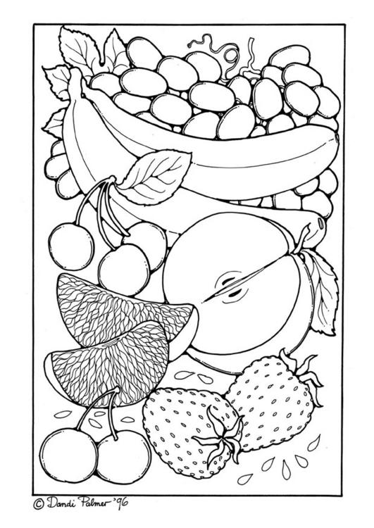 coloriage anti stress nourriture