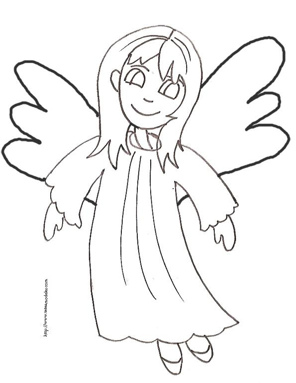 S lection de dessins de coloriage ange imprimer sur - Dessin d ange gardien ...