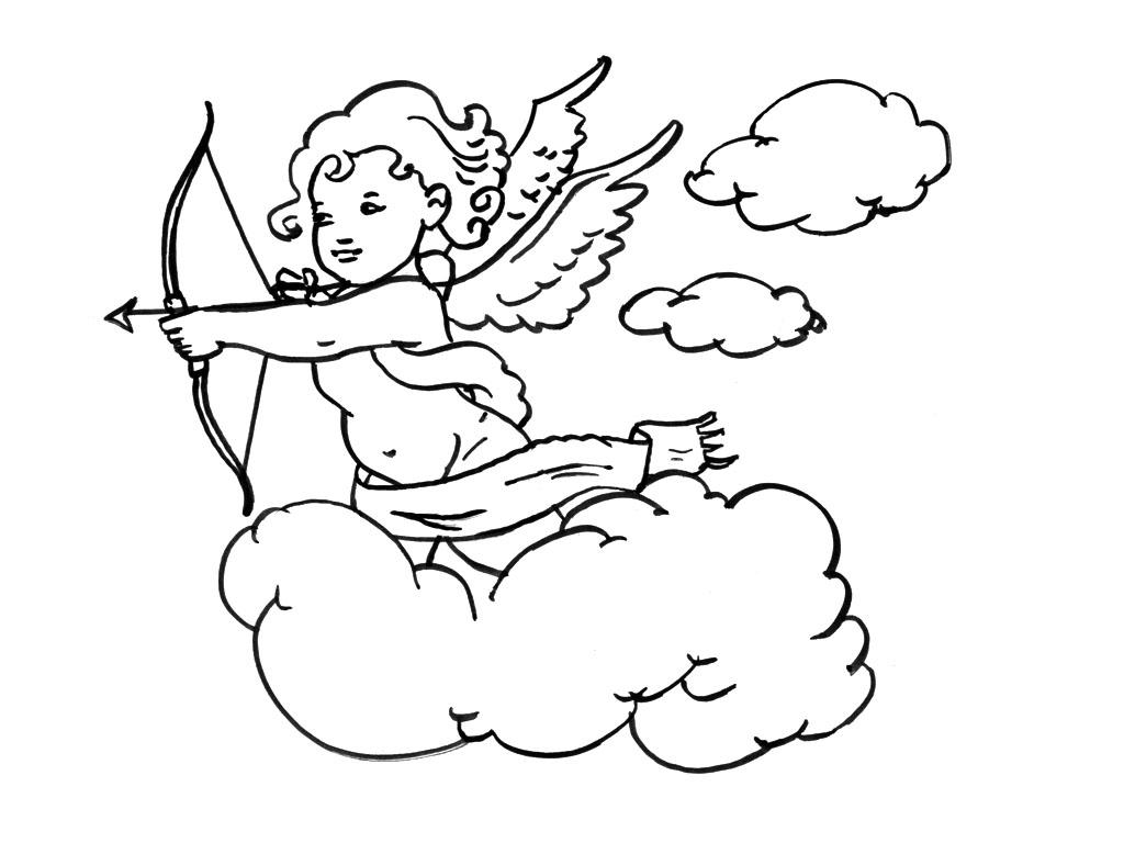 S lection de dessins de coloriage ange imprimer sur - Dessin d ange ...