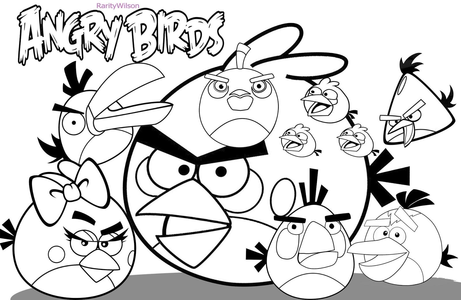 Dessin de angry birds à imprimer