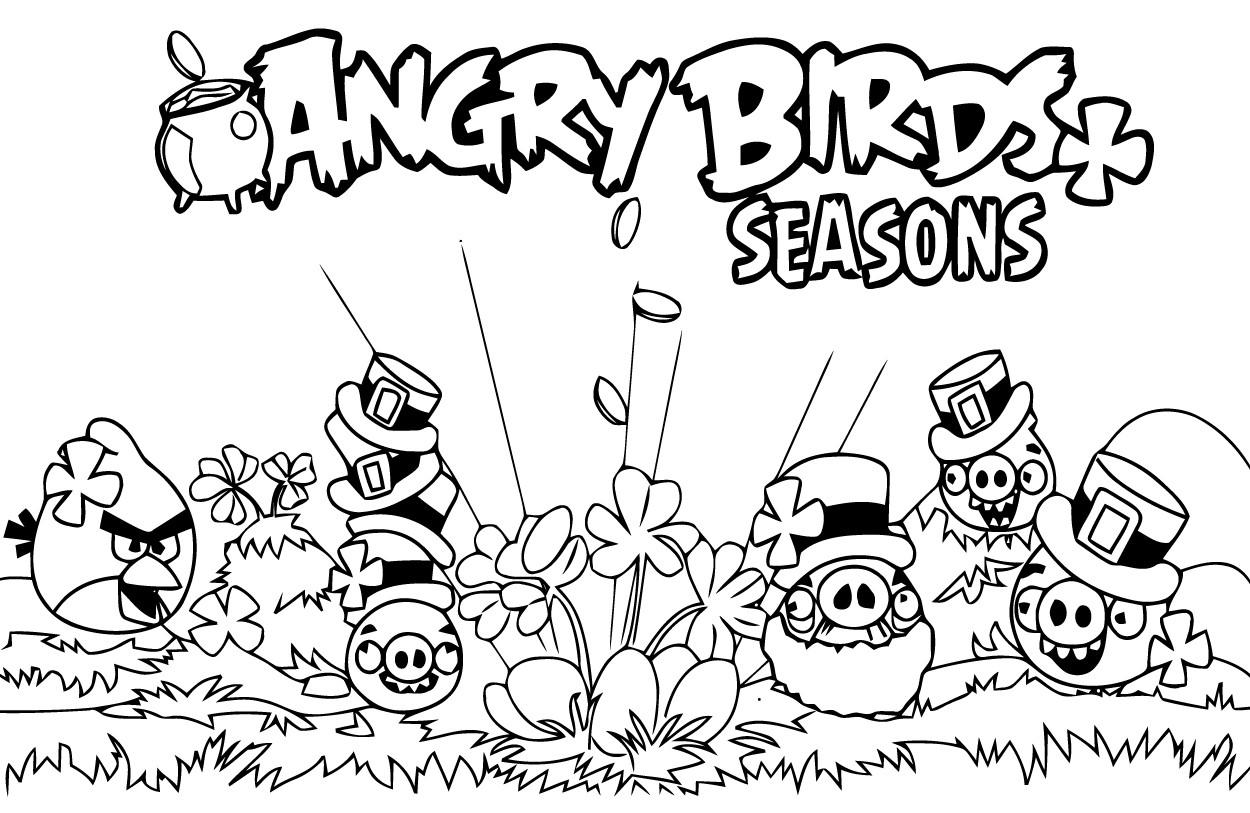 Dessin de angry birds à colorier