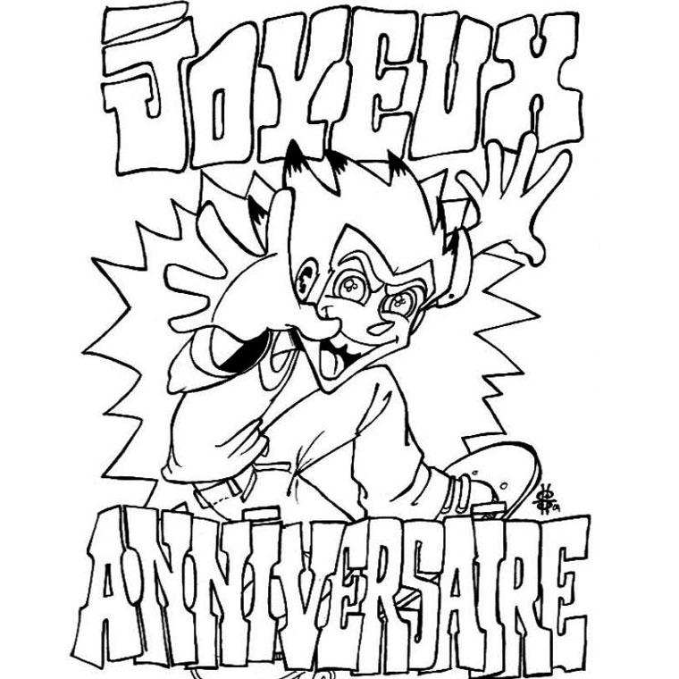 dessin 10128 dessin de anniversaire gratuit a imprimer et colorier