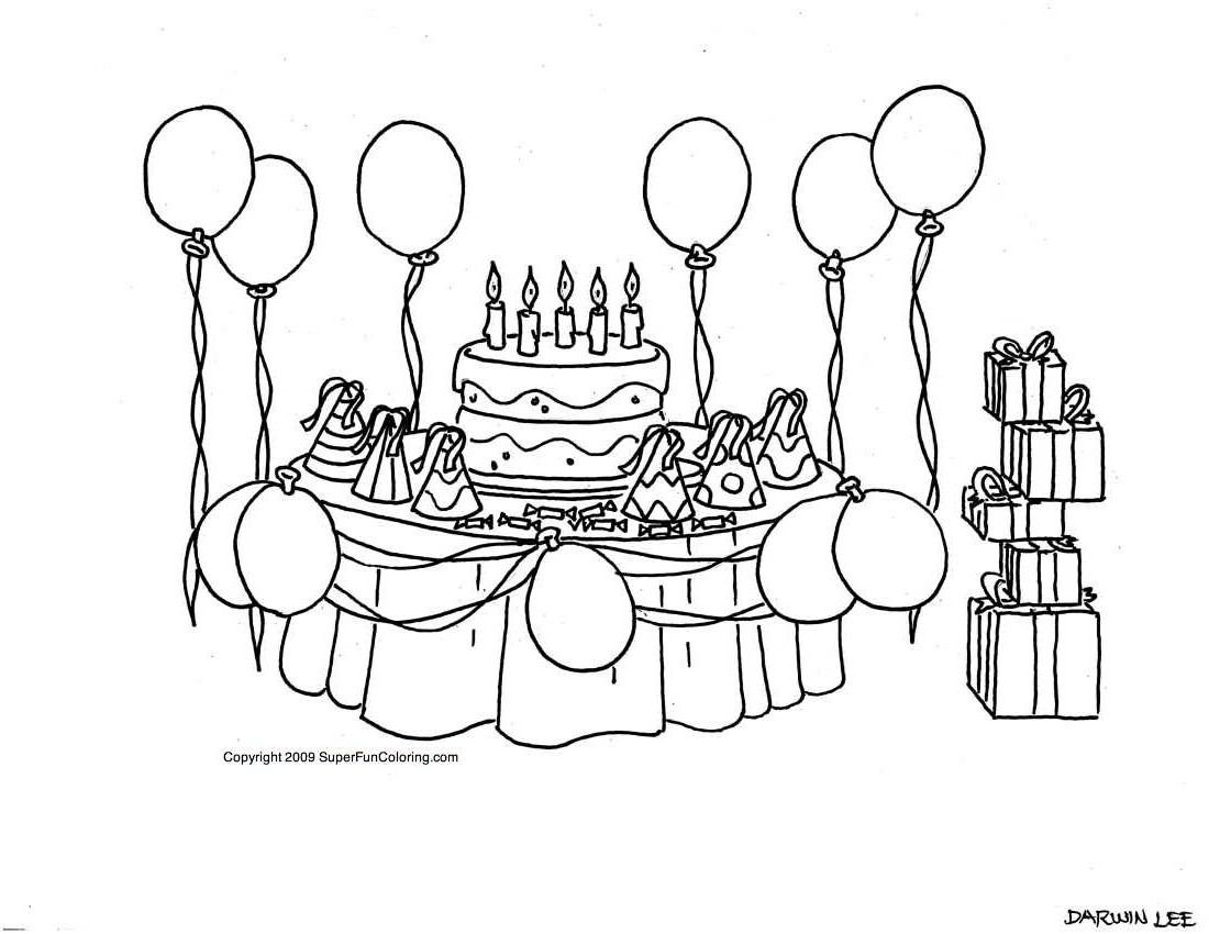 dessin 10145 jeux de coloriage anniversaire - Coloriage Anniversaire