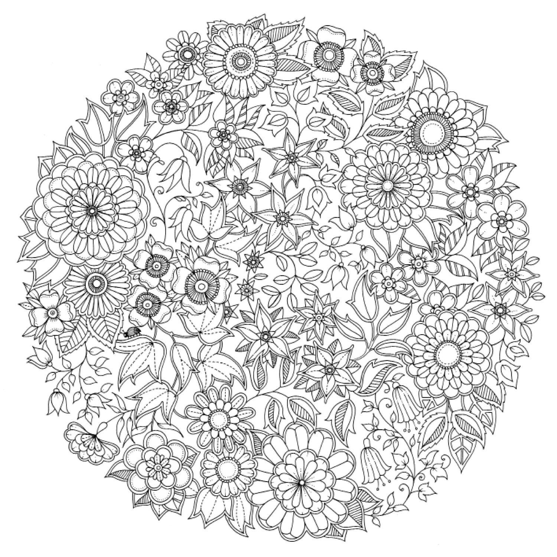 coloriage anti stress à imprimer mandala