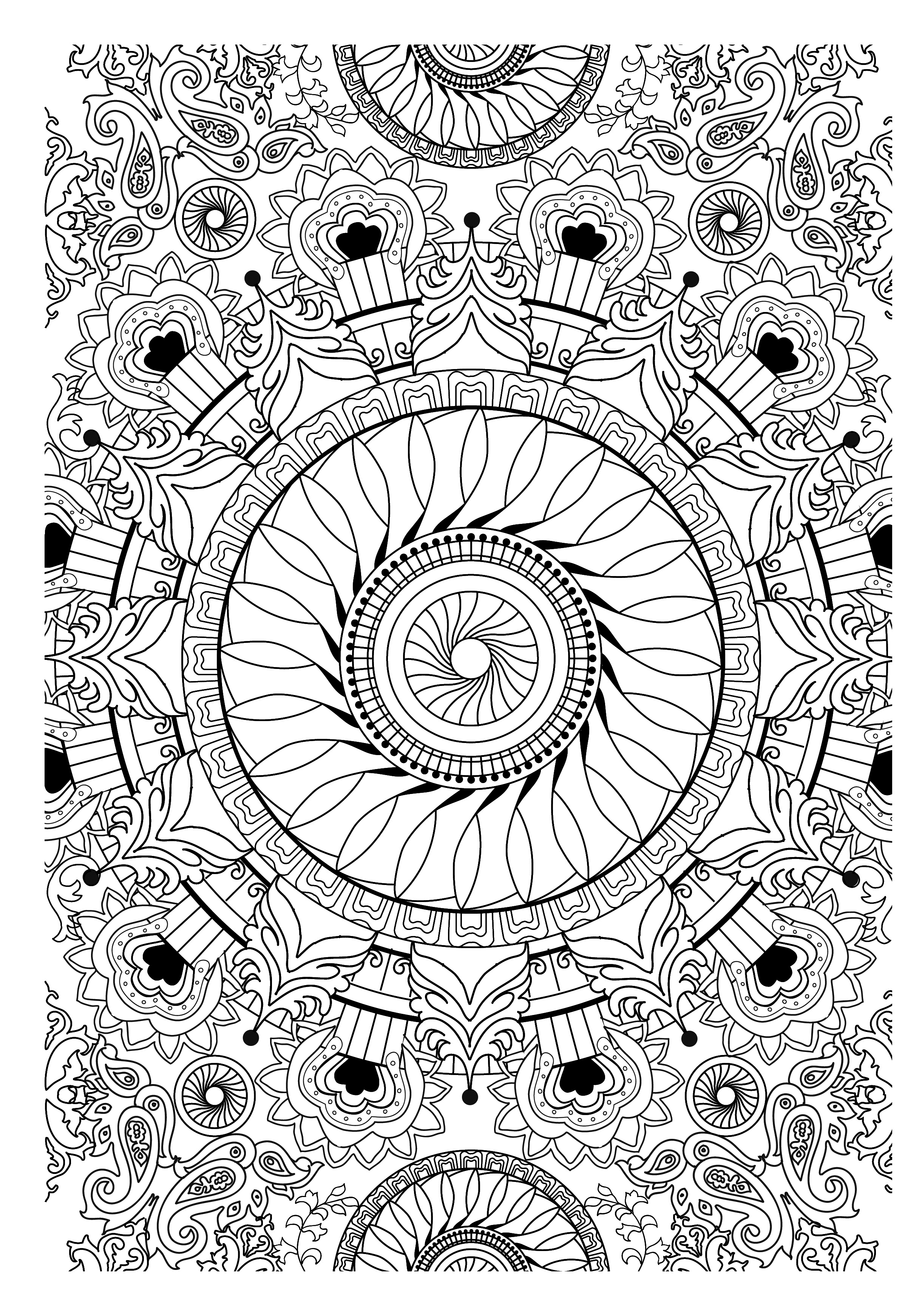 71 dessins de coloriage anti stress imprimer sur - Coloriage anti stress disney ...