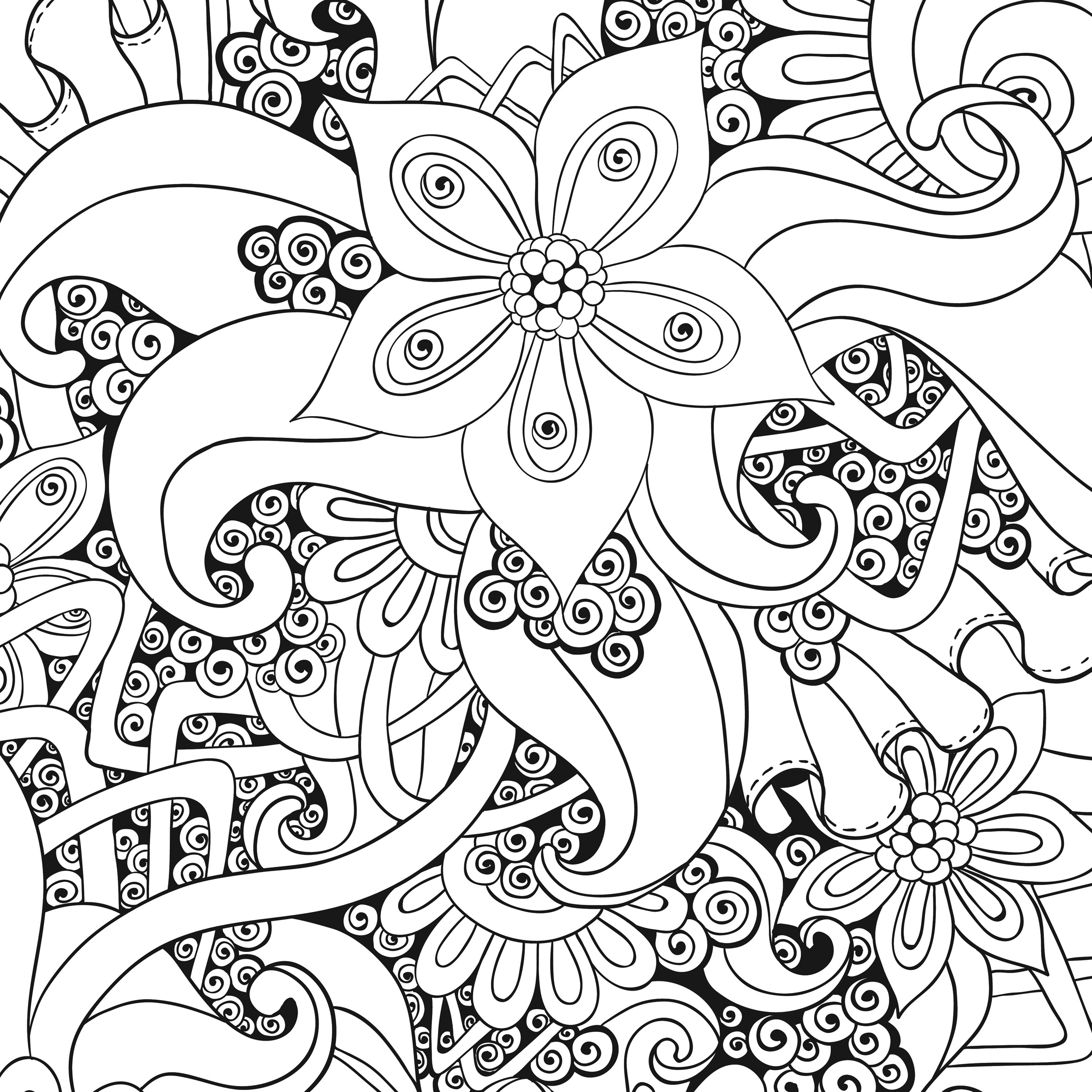 coloriage anti stress à imprimer facile