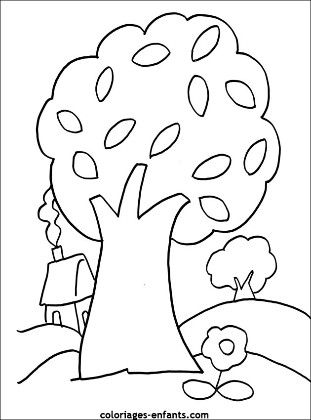 66 dessins de coloriage arbre imprimer sur page 3. Black Bedroom Furniture Sets. Home Design Ideas