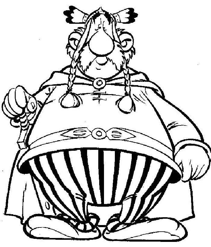 Coloriage a imprimer le chef gaulois abraracourcix gratuit et colorier