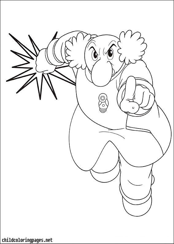 Dessin de astro boy gratuit a imprimer et colorier