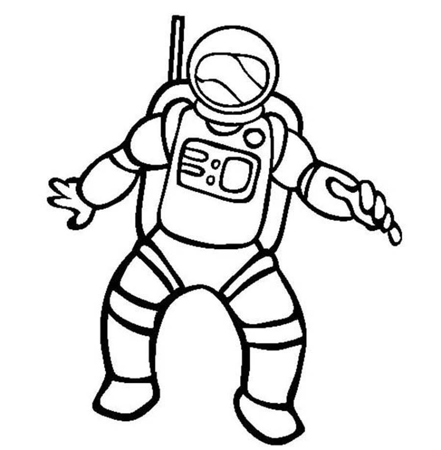 Sélection de dessins de coloriage astronaute à imprimer ...