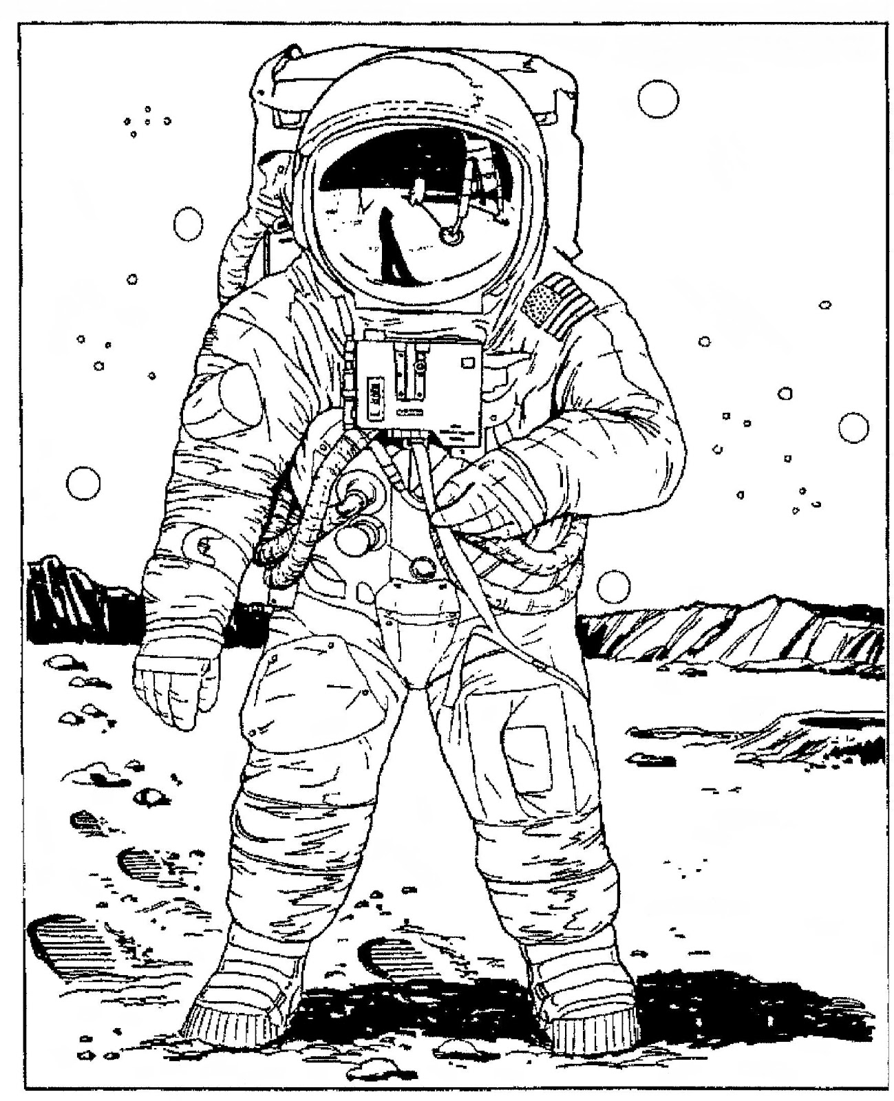 real astronaut drawings - photo #3