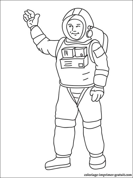 S lection de dessins de coloriage astronaute imprimer sur page 4 - Dessin d astronaute ...