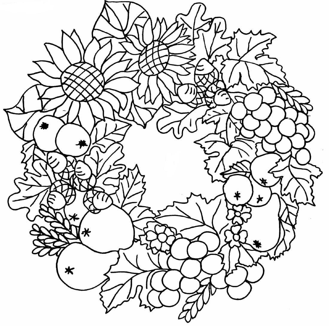 coloriage d'automne pour adulte