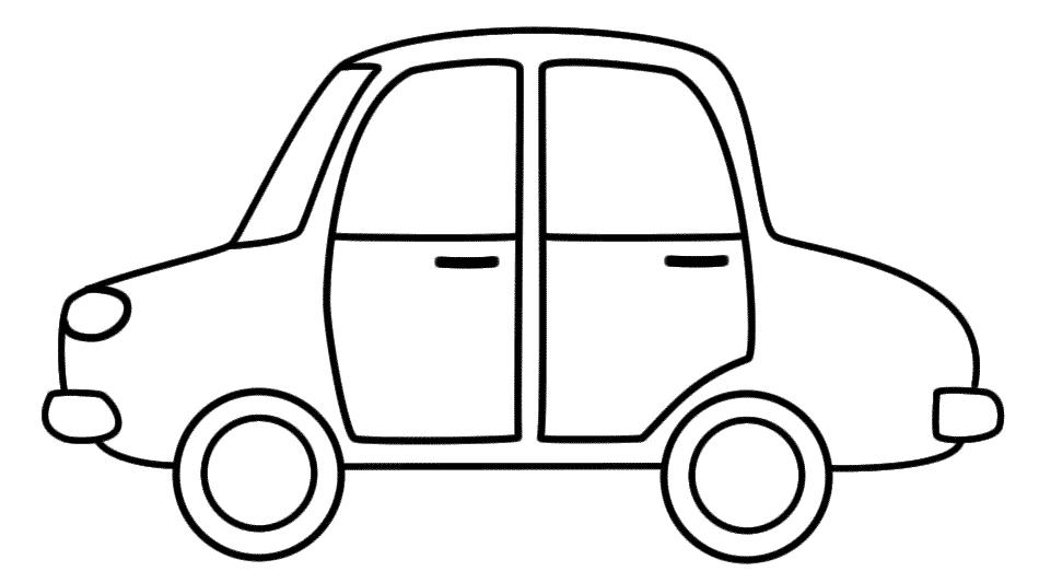S lection de dessins de coloriage automobile imprimer - Dessin de voiture simple ...