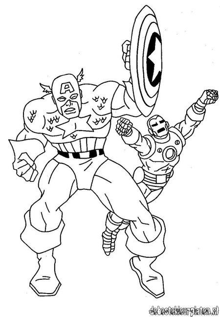captain america avengers dessins à colorier pour enfants