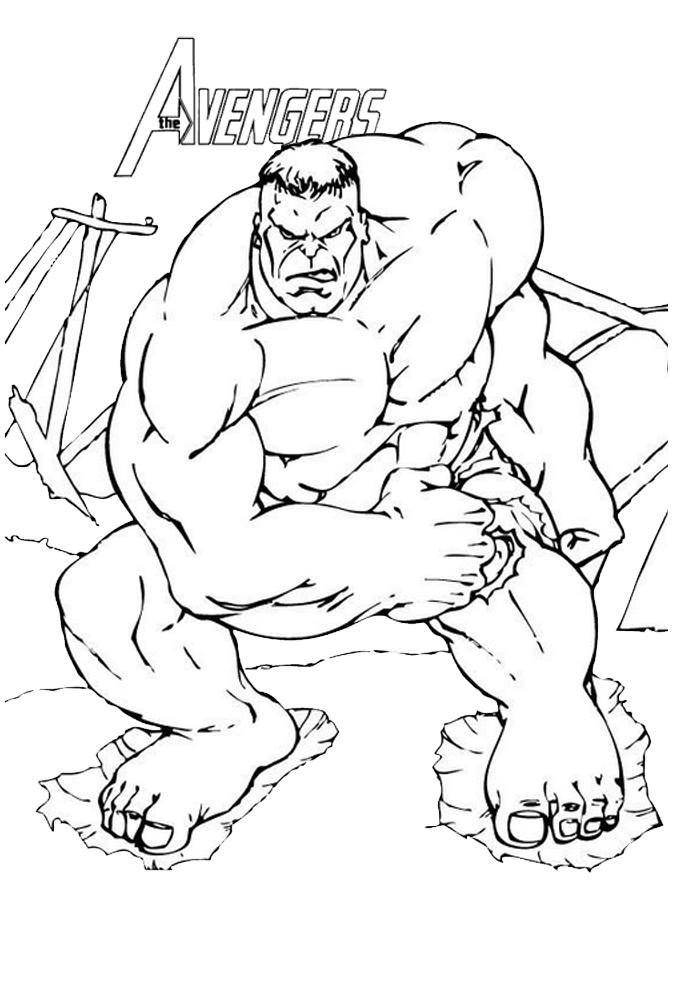 coloriages the avengers dessin de hulk est en colère a imprimer