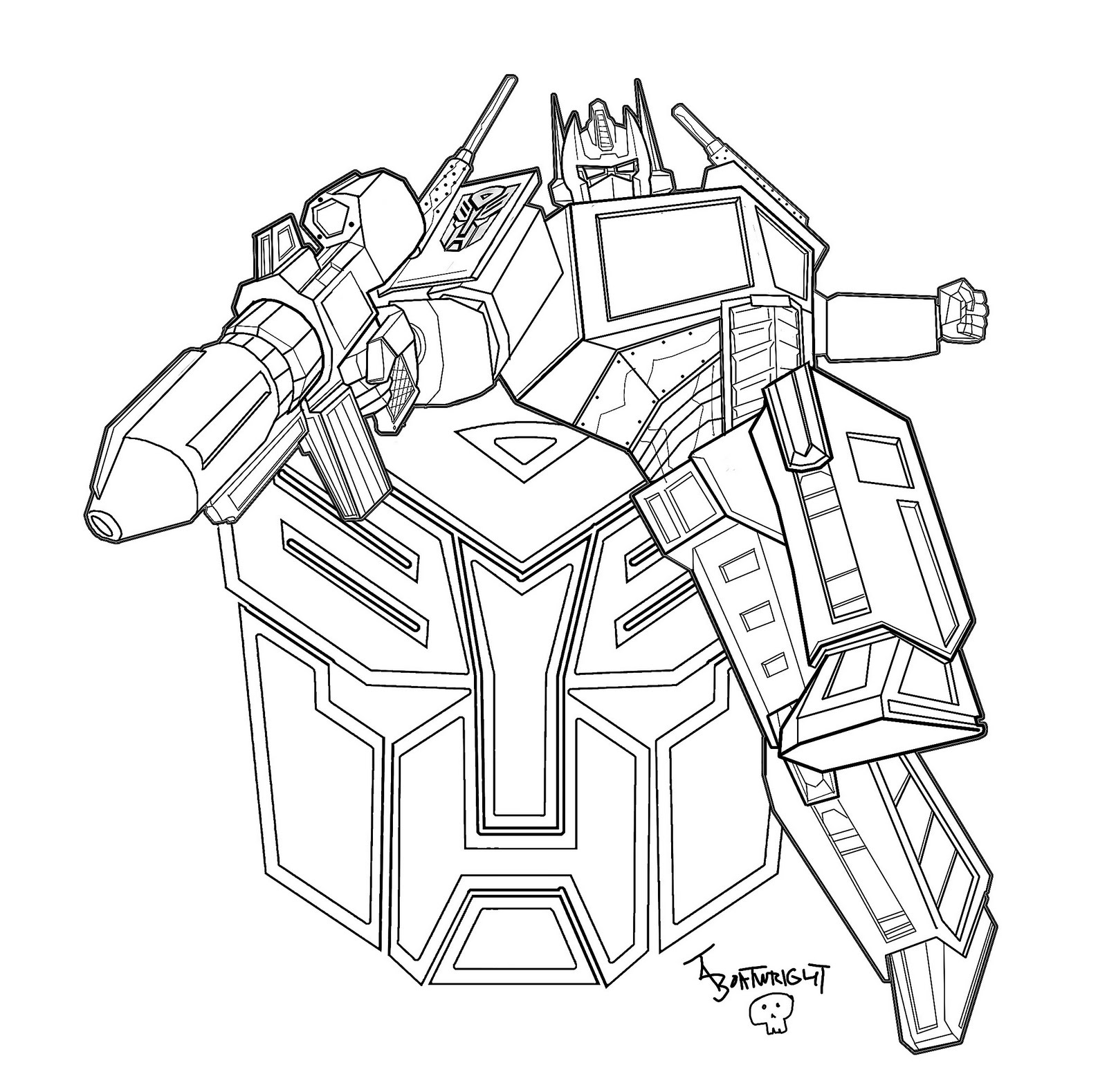 optimus prime transformers dessins à colorier disney dessins à colorier