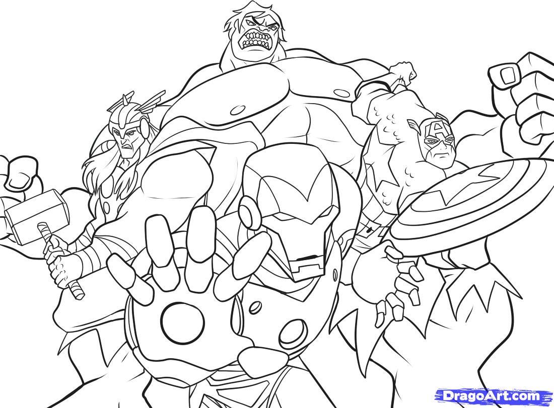 Avengers Team Coloring Pages : Dessins de coloriage avengers à imprimer sur laguerche