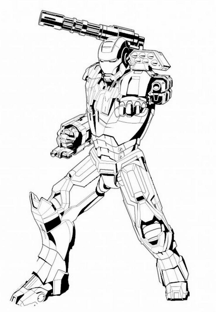 coloriage a imprimer the avengers iron man gratuit et colorier