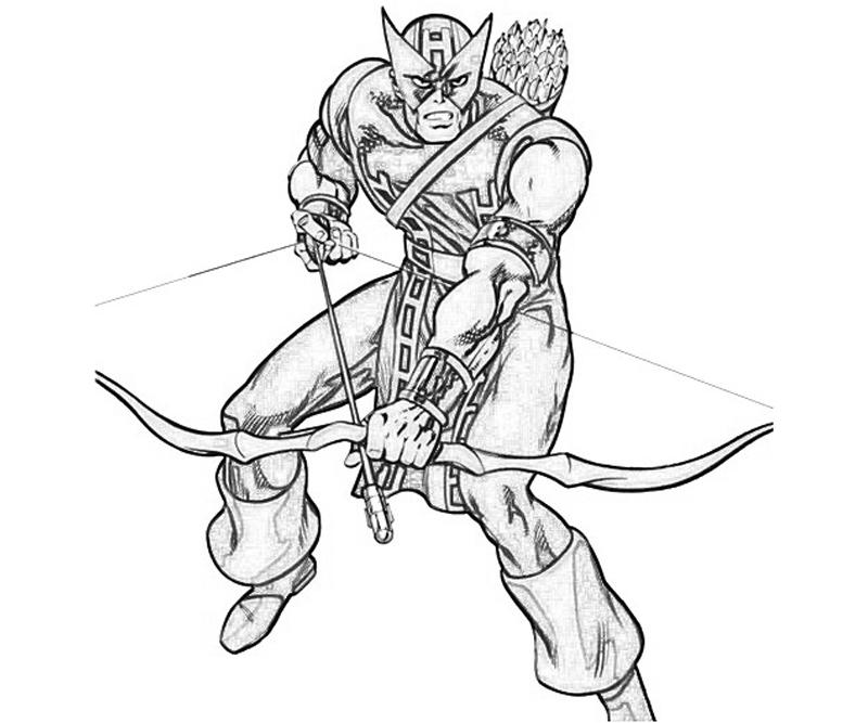 hawk guy coloring pages - photo#36