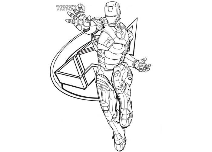 iron man dessins à colorier avengers