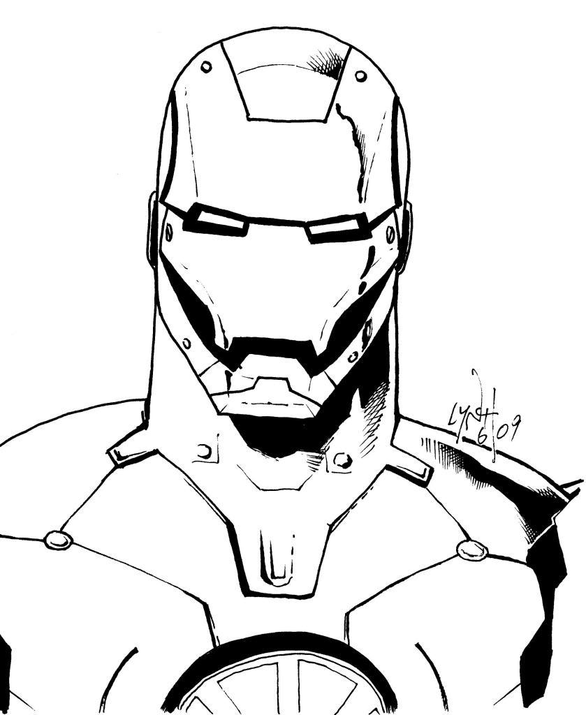 iron man the avengers best dessins à colorier