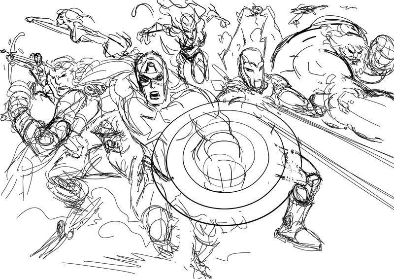 160 dessins de coloriage avengers imprimer sur page 5 - Dessin avengers ...