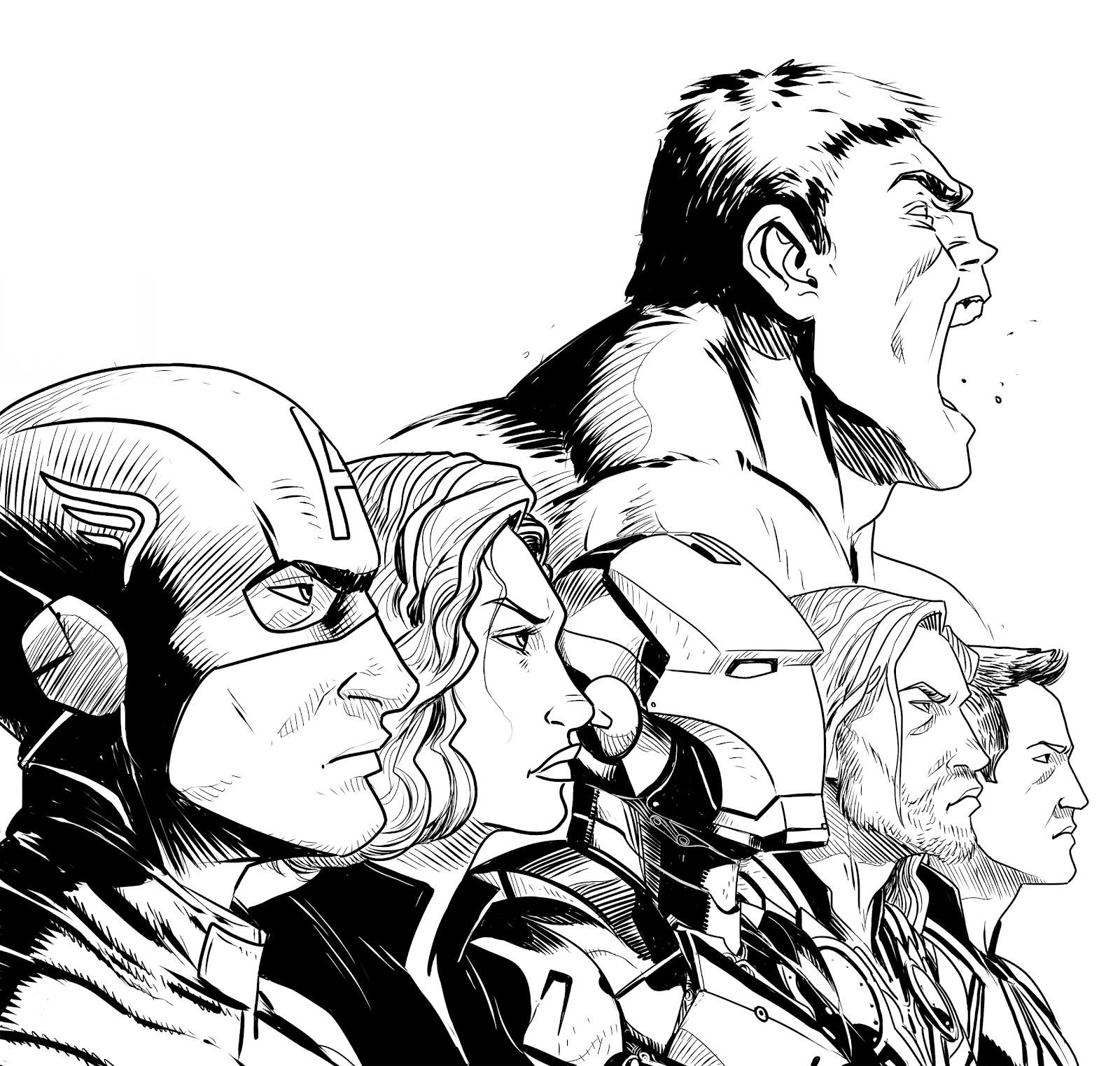 the avengers à dessiner
