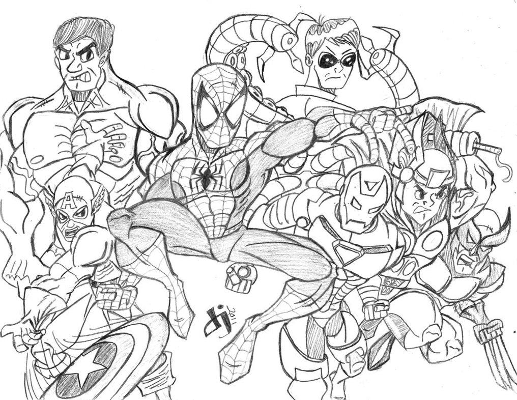 160 dessins de coloriage avengers imprimer sur laguerche Marvel coloring books for adults