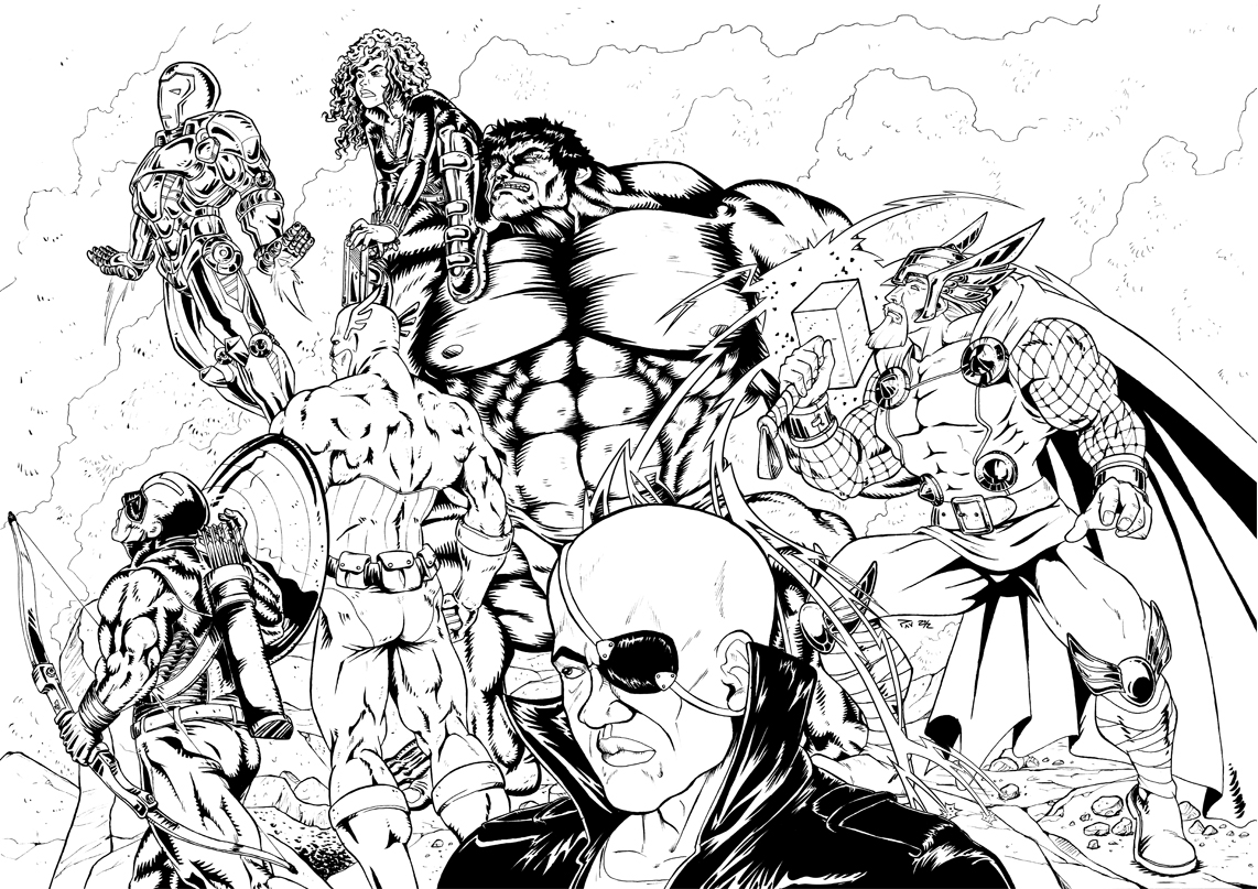 coloriage that avengers
