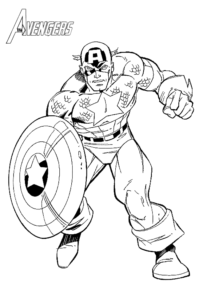 coloriages the avengers capt amrica