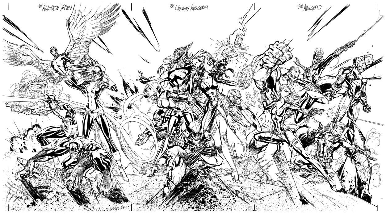 coloriage comics avengers dans coloriage avengers coloriages - Marvel Coloriage