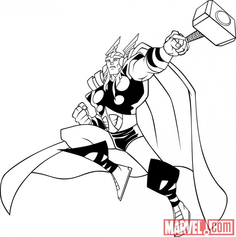 thor concept art from marvel's avengers: earth's mightiest heroes