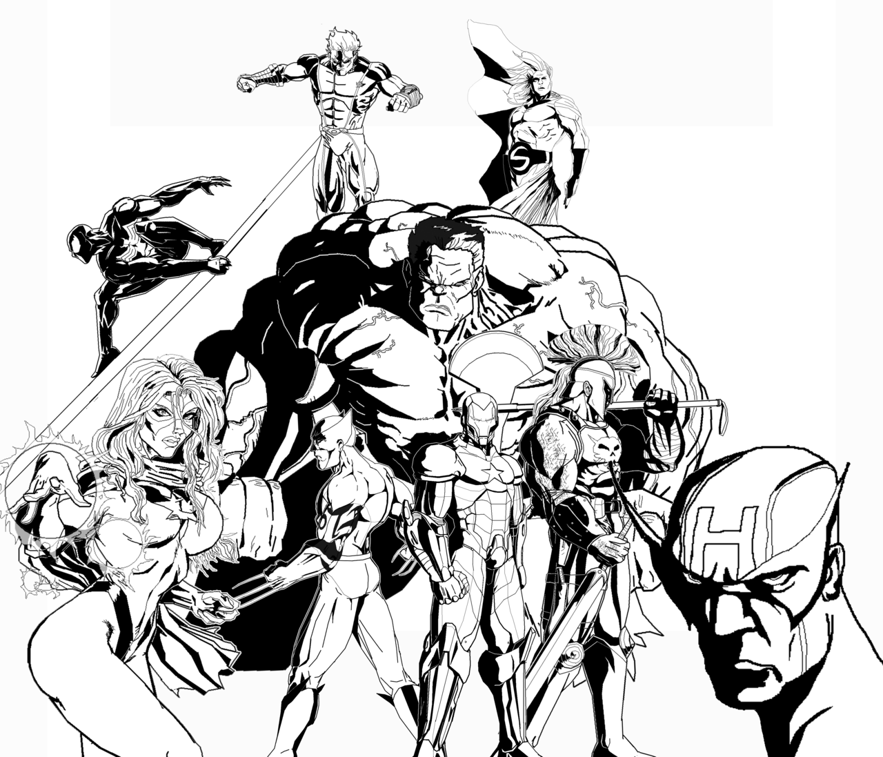 the dark avengers with rulk par rugrell