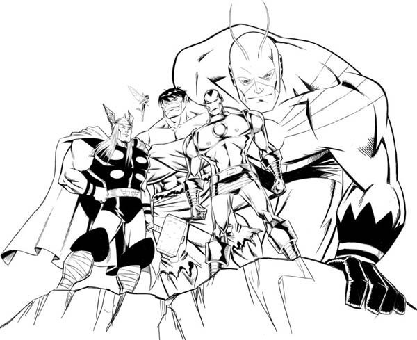 avengers-assemble-in-avengers coloriage page