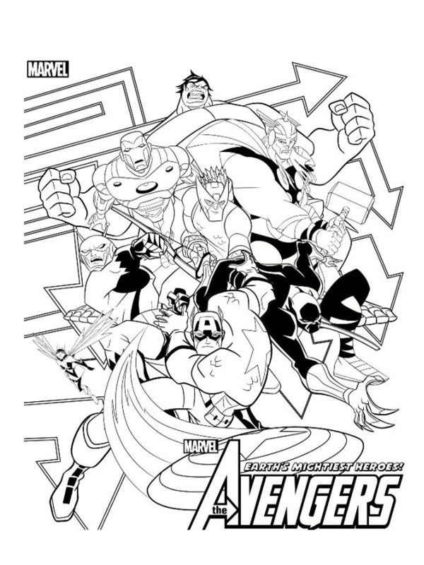coloriage the avengers